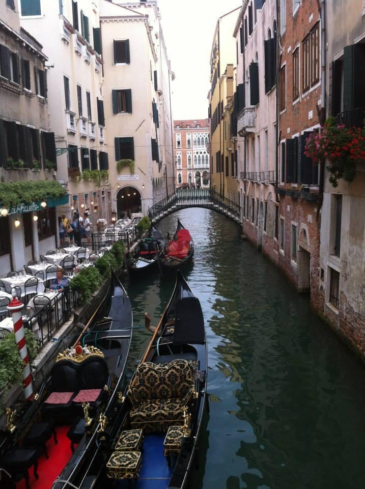 Boaties in Venice