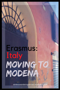 Moving to Modena